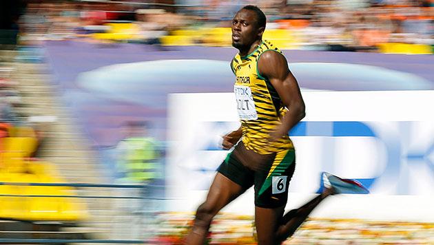 Was ist nur los mit Usain Bolt? (Bild: EPA)
