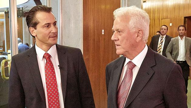 Lugar und Schenk verlassen Team Stronach (Bild: APA/PHOTONEWS.AT/GEORGES SCHNEIDER)
