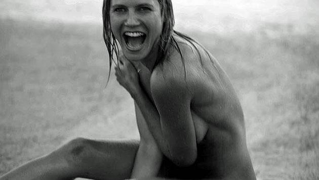 Fans von Heidi Klums Nacktbildern genervt (Bild: Twitter)