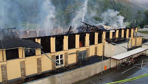 """Millionenschaden durch Brand in Werkhalle in NÖ (Bild: APA/PRESS""""N""""RELATIONS)"""