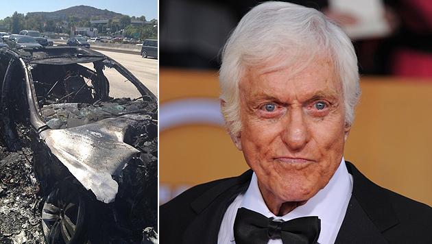 Dick Van Dyke aus brennendem Auto gerettet (Bild: Twitter, AP)