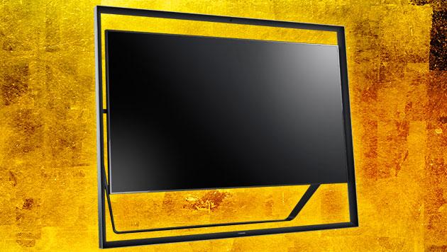 krone.at zu Besuch bei Samsungs 4K-Fernseherkoloss (Bild: Samsung, thinkstockphotos.de, krone.at-Grafik)