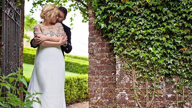 Kelly Clarkson bei ihrer Hochzeit (Bild: Twitter)