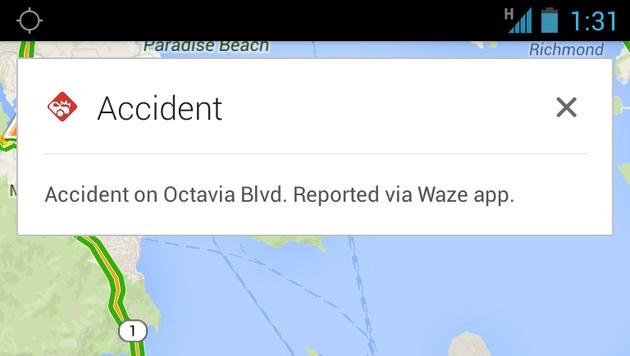 Googles Verkehrs-App Waze gefährdet Beamte (Bild: Google)