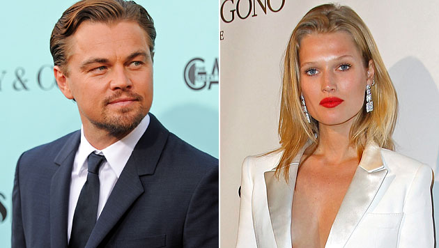 Leonardo DiCaprio: Ein Baby mit Model Toni Garrn? (Bild: AP)