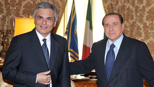 Faymann-Sager über Berlusconi: Kritik aus Italien (Bild: HOPI-MEDIA/APA/Bernhard J. Holzner)