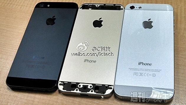 Goldenes iPhone: Bilder vom Gehäuse aufgetaucht (Bild: weibo.com/ictech)