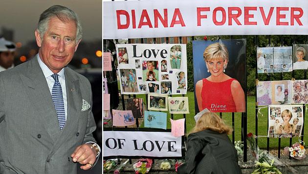 Charles wird zum Tod von Diana von Polizei befragt (Bild: EPA)
