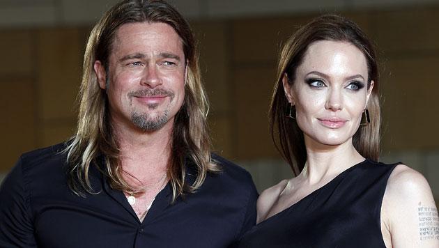 Jolie und Pitt heiraten angeblich Anfang September (Bild: AP)