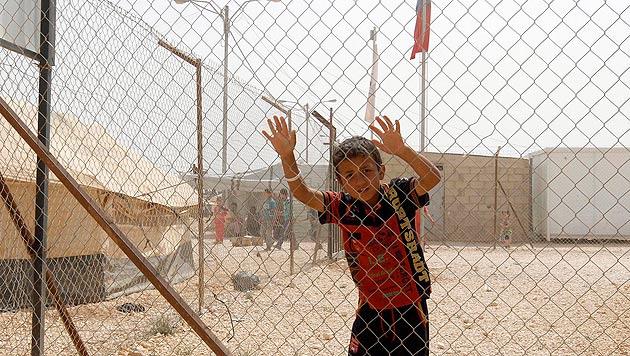 Syrien: Bereits 1 Million Kinder auf der Flucht (Bild: EPA)