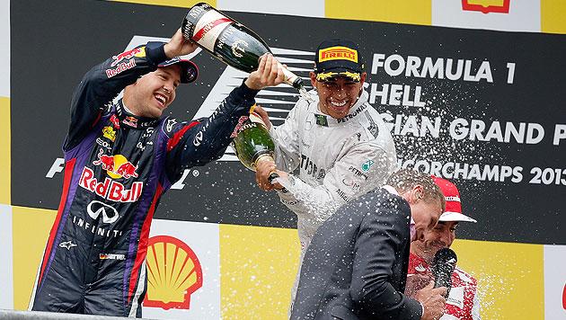 Vettel macht Riesenschritt Richtung WM-Titel (Bild: EPA)