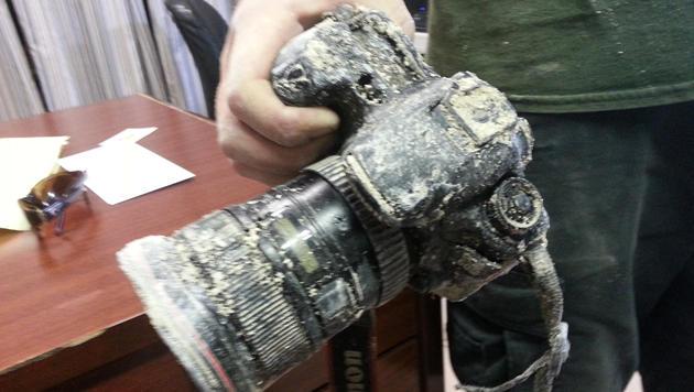 Von Alligator geklaute Kamera wieder aufgetaucht (Bild: Everglades Alligator Farm)
