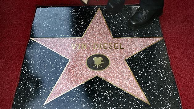 """Vin Diesel enthüllt seinen Stern am """"Walk of Fame"""" (Bild: EPA)"""