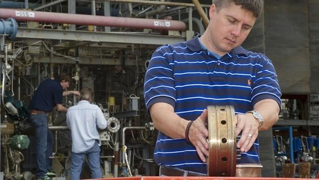 NASA testet Triebwerksteil aus dem 3D-Drucker (Bild: NASA/MSFC/Emmett Given)