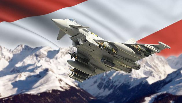 Österreich verweigert NATO-Jets Überflug (Bild: thinkstockphotos.de, EPA, krone.at-Grafik)