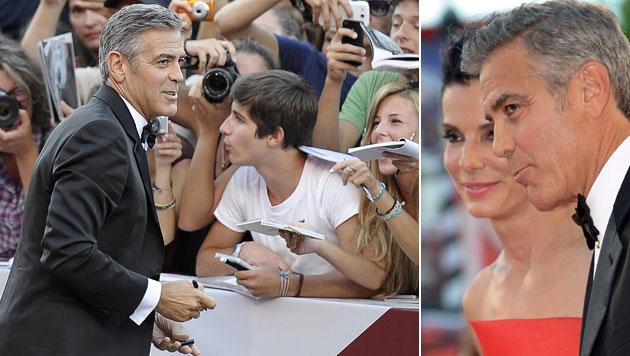 Clooney in Venedig: Von Batman, Baby & Tequila (Bild: EPA)