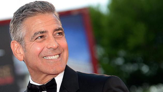George Clooney und Sandra Bullock am roten Teppich (Bild: EPA, AP)