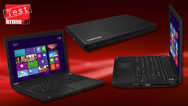 Viel Laptop fürs Geld: Toshibas C50D im Test (Bild: thinkstockphotos.de, Toshiba, krone.at-Grafik)