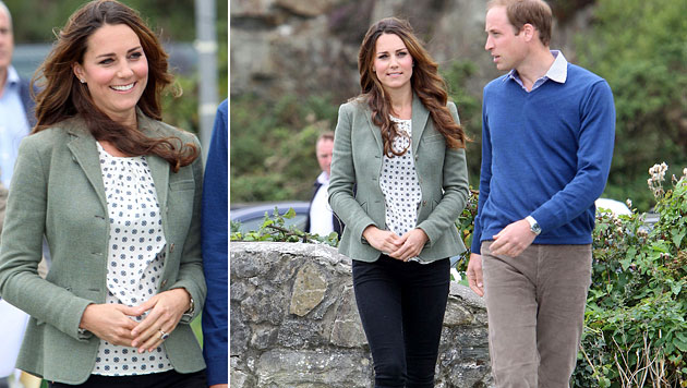 Kates erster Auftritt nach der Geburt von George (Bild: AP)