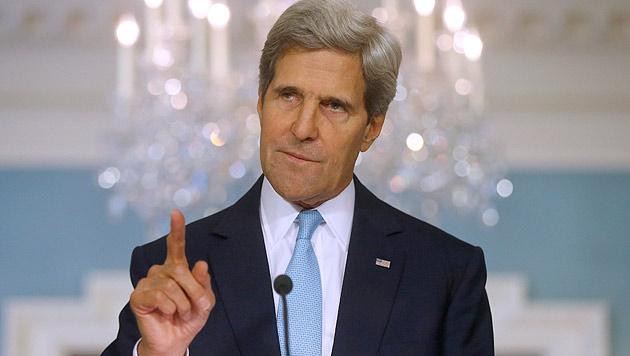 US-Außenminister John Kerry am Sonntag in Wien (Bild: AP)