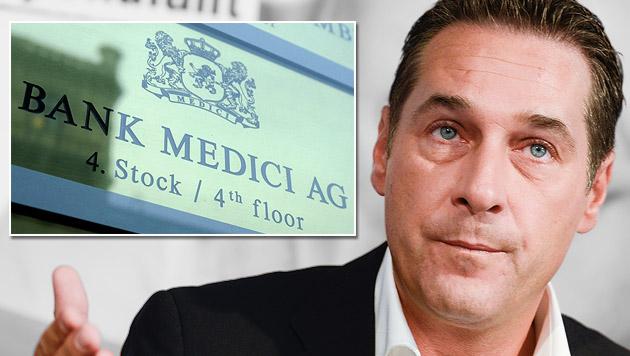 Strache macht Banken-Krimi zum Wahlkampfthema (Bild: APA/MIEL SATRAPA, APA/HELMUT FOHRINGER,)