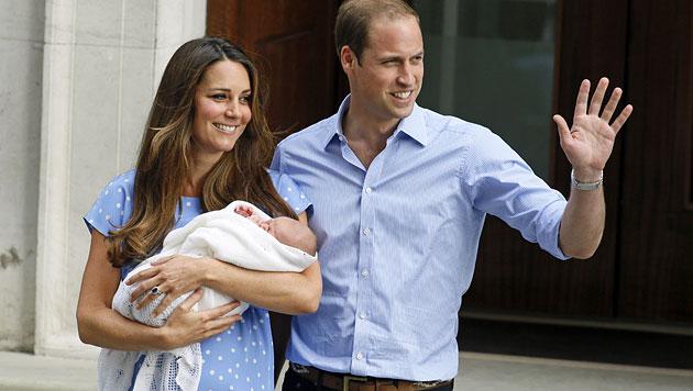Baby George macht sich bereit für große Reise (Bild: AP)
