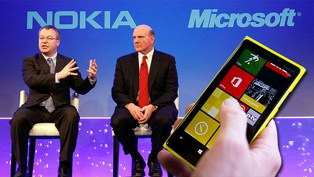 Microsoft kauft Handysparte von Nokia (Bild: AP, EPA, krone.at-Grafik)