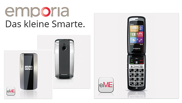 "Emporia bringt ""Senioren-Smartphone"" zur IFA (Bild: Emporia, krone.at-Grafik)"