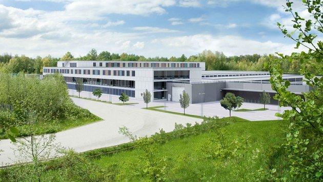 Salzburg: Grundstein für neue Justizanstalt gelegt (Bild: APA/PESCHKE DESIGN)
