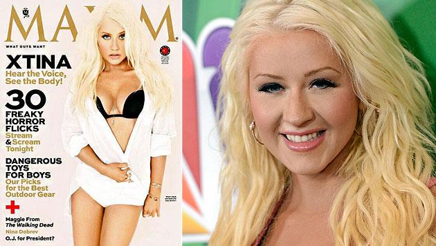 """Für das Cover des """"Maxim"""" zeigte sich Christina Aguilera vor Kurzem in Unterwäsche. (Bild: Maxim, AP)"""