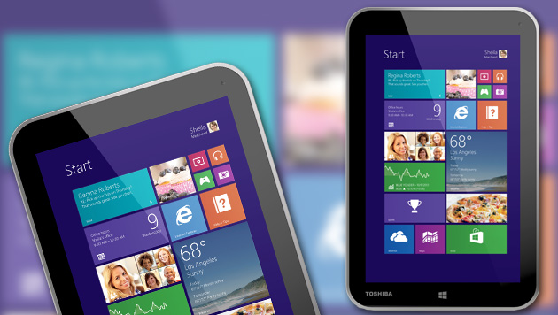 Encore: 8-Zoll-Tablet mit Windows 8.1 von Toshiba (Bild: Toshiba, krone.at-Grafik)