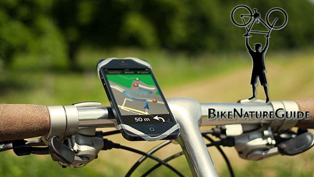 Fahrrad-Navi-App aus Graz erschließt die Natur (Bild: bikenaturguide.org, krone.at-Grafik)