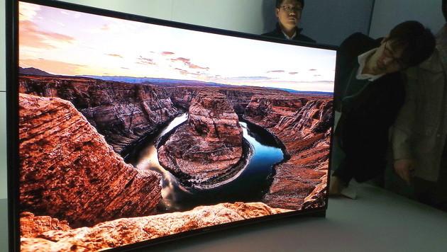 Hersteller sehen TV-Zukunft in OLED-Technologie (Bild: EPA)