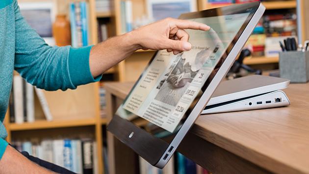 Neue All-in-One-PCs von HP rücken Nutzern näher (Bild: HP)