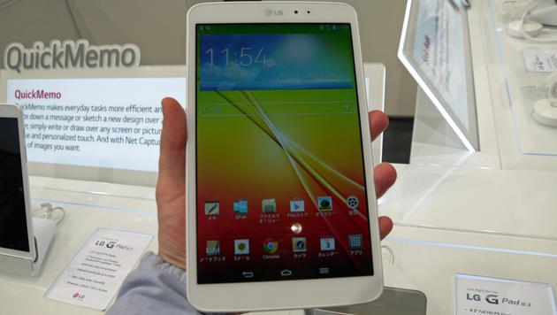 IFA: iPad-mini-Konkurrenz LG G Pad 8.3 ausprobiert (Bild: Dominik Erlinger)