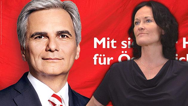 Klub soll SPÖ-Plakatserie illegal finanziert haben (Bild: APA/SPÖ, APA/HELMUT FOHRINGER, krone.at-Grafik)