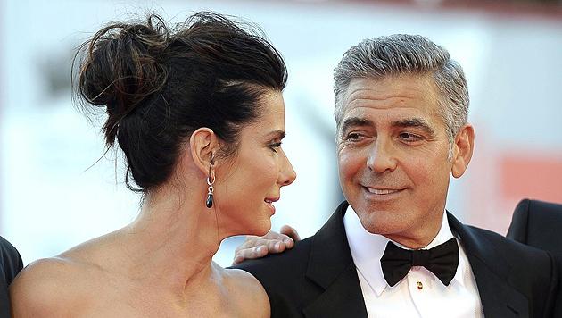 "Sandra Bullocks Sohn findet George Clooney ""cool"" (Bild: EPA)"