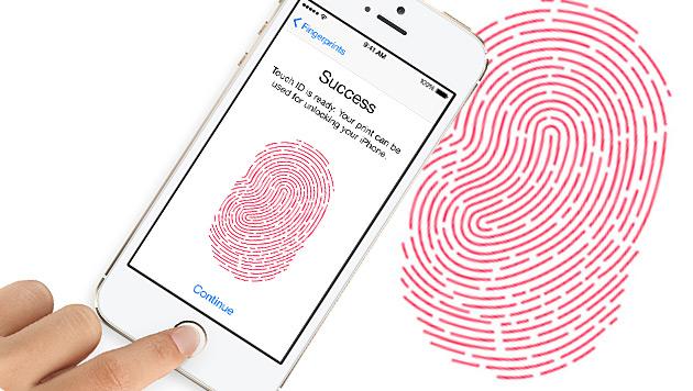 Apples Fingerabdruck-Scanner im Visier der Hacker (Bild: Apple, krone.at-Grafik)