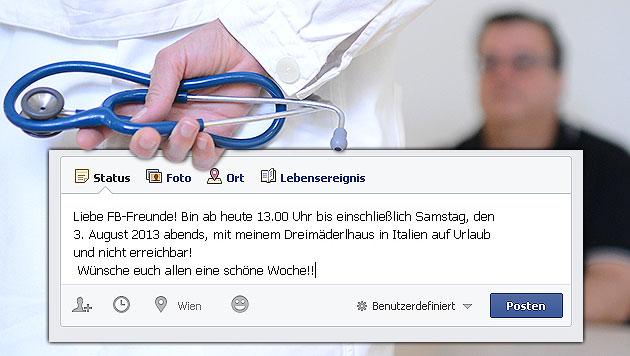 OÖ: Mann nach Urlaubsgruß auf Facebook entlassen (Bild: APA/HELMUT FOHRINGER, facebook.com, krone.at-Grafik)