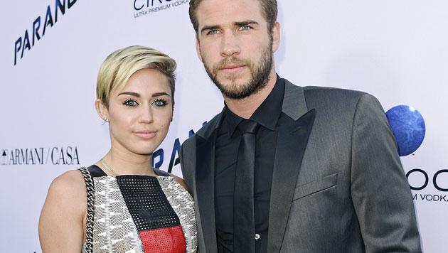 Erfand Miley Schwangerschaft gegen Beziehungs-Aus? (Bild: AP)