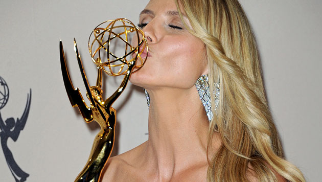 Model Heidi Klum mit Emmy ausgezeichnet (Bild: AP)