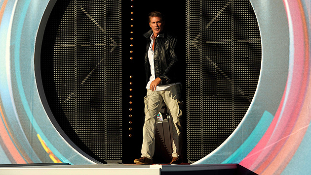 """Hasselhoff schwindelte sich aus """"Big Brother"""" (Bild: Sat. 1)"""