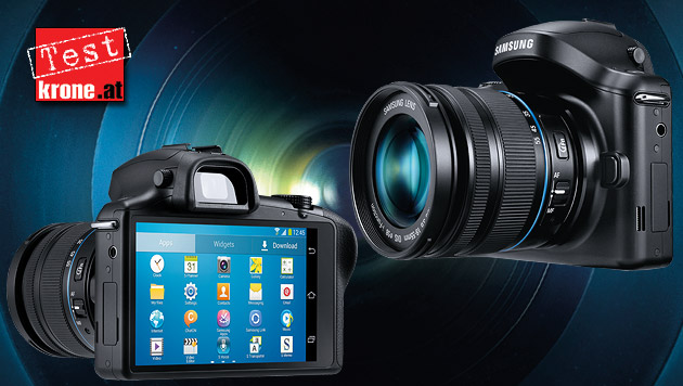 Kann auch fotografieren: Samsung Galaxy NX im Test (Bild: Samsung, krone.at-Grafik)