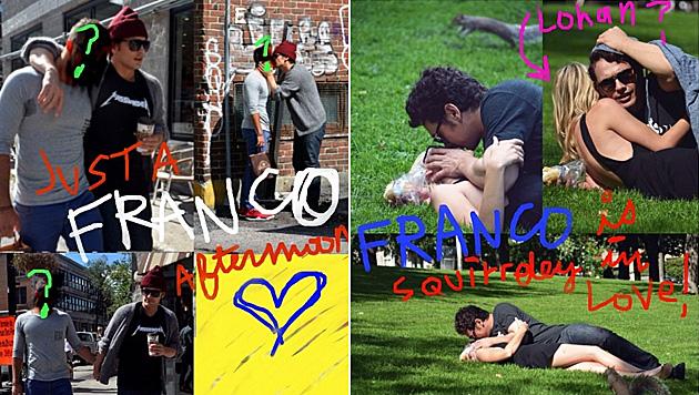 James Franco macht sich über Paparazzi lustig (Bild: instagram.com/jamesfrancotv)