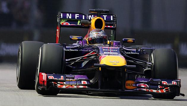 Vettel auch im dritten freien Training Schnellster (Bild: AP)