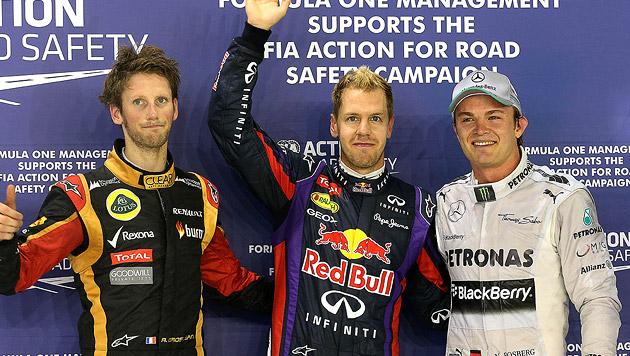 Weltmeister Vettel holt Pole Position vor Rosberg (Bild: AP, krone.at-Grafik)