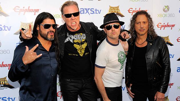 Metallica würden gern als Hochzeits-Band auftreten (Bild: AP)