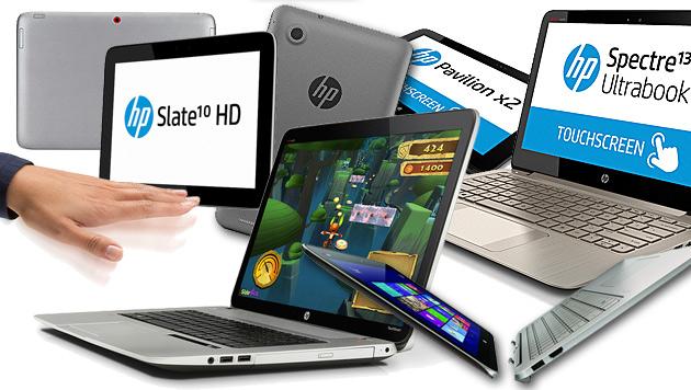 HP kündigt Notebook mit Gestensteuerung an (Bild: HP, krone.at-Grafik)