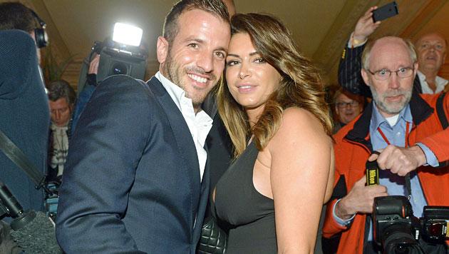 Rafael und Sabia kriegen angeblich ein Mäderl (Bild: EPA)