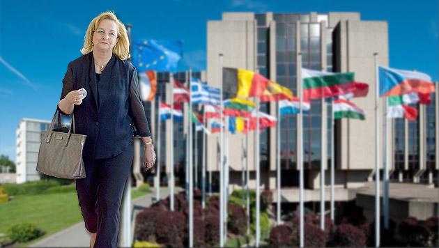 Fekter geht nach der Wahl zum EU-Rechnungshof (Bild: EuRH, EU, APA/ROLAND SCHLAGER, krone.at-Grafik)